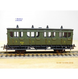 MMM RG / CLAREL  29F , voiture ancienne 1890  1 ère  classe  type A4   N°: 207   ETAT  neuf  BO