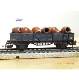 ELECTROTREN  1110, wagon tombereau  chargé d' amphores    RENFE