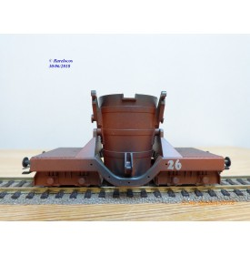 TRIX 24060, wagon privé pour transport de fonte en fusion  N° 26   Neuf    BO