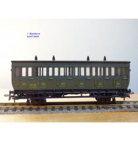 ELEC TRAINS 4P3    MMM RG  2203, voiture ancienne 3 ème classe  type C 6   N°: 14011   PLM   BO