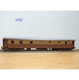 RIVAROSSI  2512, fourgon  bagages / postal à bogies  type Duz  34  FS     BO