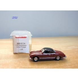 WIKING  805 02 24 ,  Volkswagen coupé Karmann Ghia rouge  et noir   neuf   BO  1/87   HO