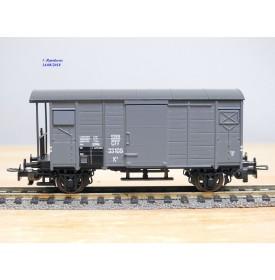 LILIPUT 247 56, wagon couvert à plate forme de serre freins type K 2    SBB     neuf   BO