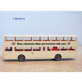WIKING 24730, autobus à 2 étages MAN  BÜSSING   SD 200  de la ville de Berlin  ( BVG )   Neuf  BO  1/87   HO