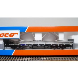 ROCO 47724, wagon plat à ran chers chargé de tuyaux d'aluminium DB Neuf  BO