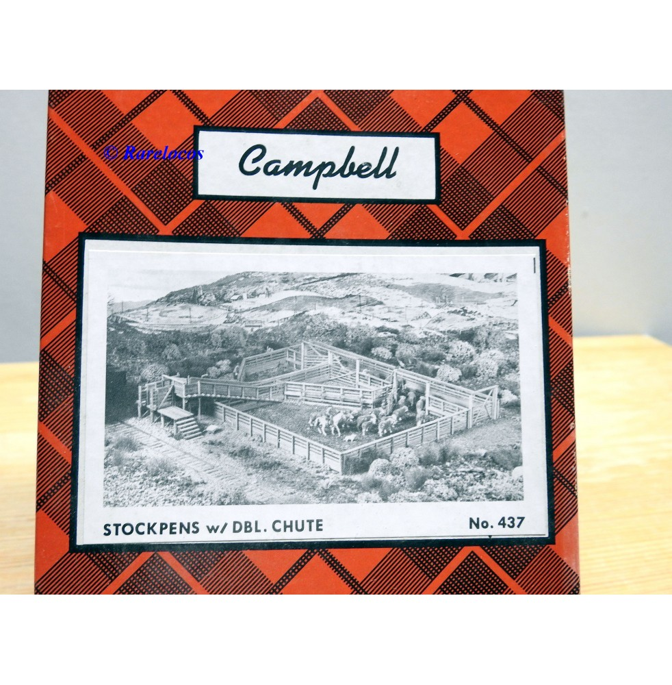 Campbell Scale Models 437, stock pen with double chutes Neuf BO  HO  1 / 87