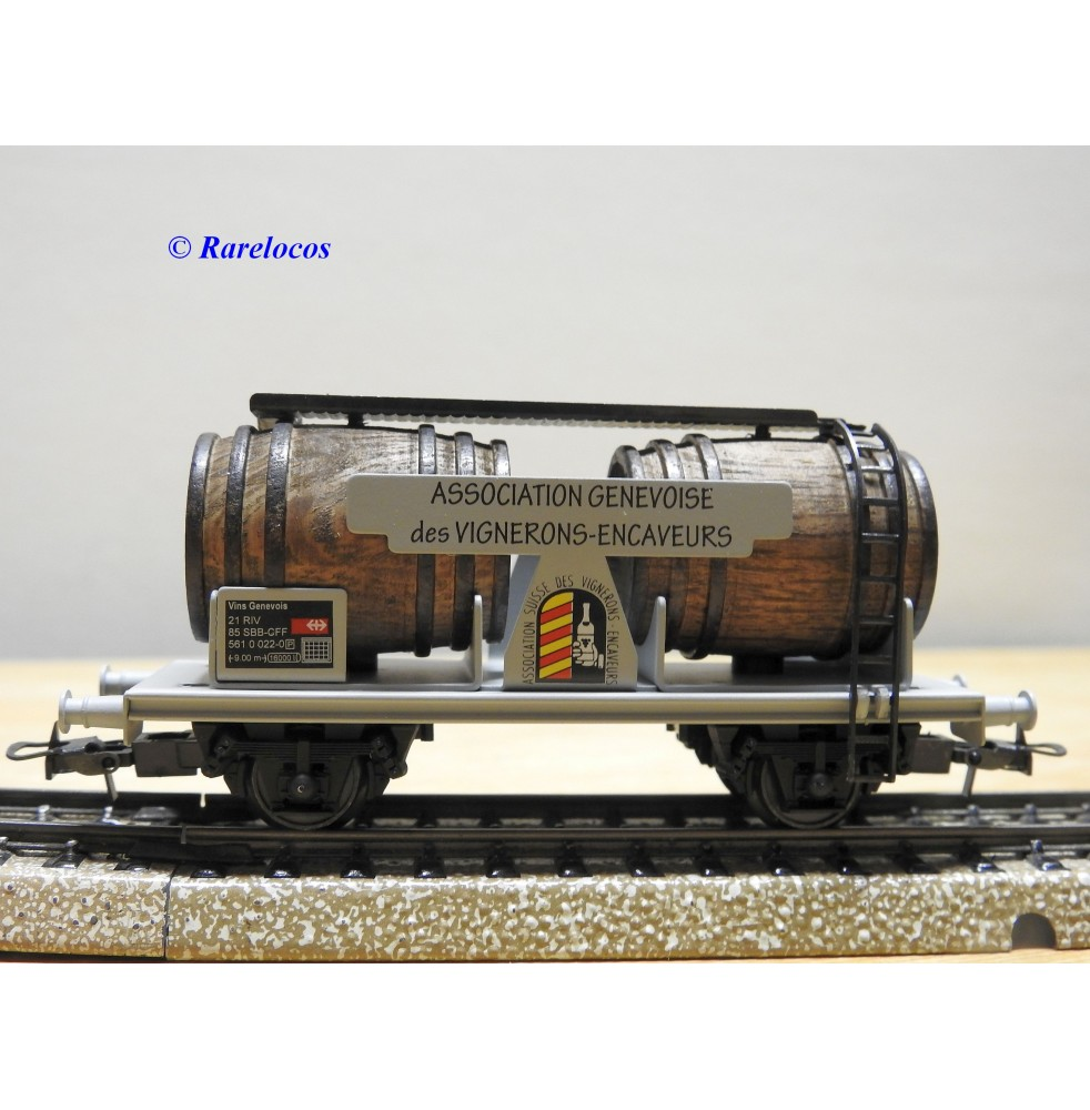 ELECTROTREN  822AC, wagon citerne bi foudres A.G.V.E.  SBB  BO