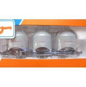 ROCO 47320,  wagon silo pour transport de poussière de charbon type Zkod DR Neuf  BO