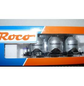 ROCO 47318,  wagon silo pour transport de lignite DR Neuf  BO