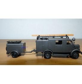 ROCO Minitanks 369, camion et motopompe MERCEDES BENZ L 1500 SLF8  Neuf BO 1/87 HO