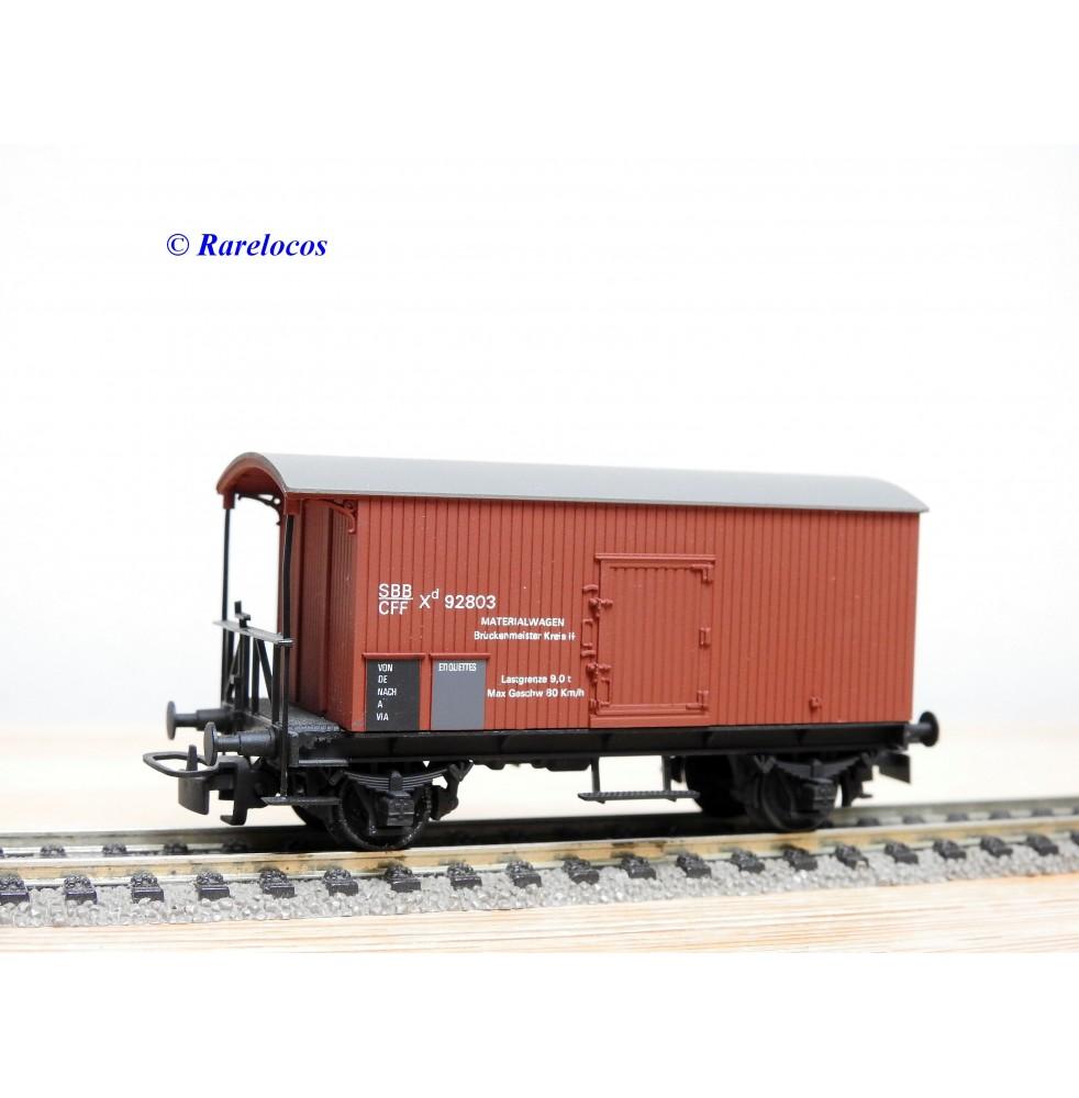 RUCO 2001, wagon atelier ( Materialwagen ) type  Xd  SBB BO
