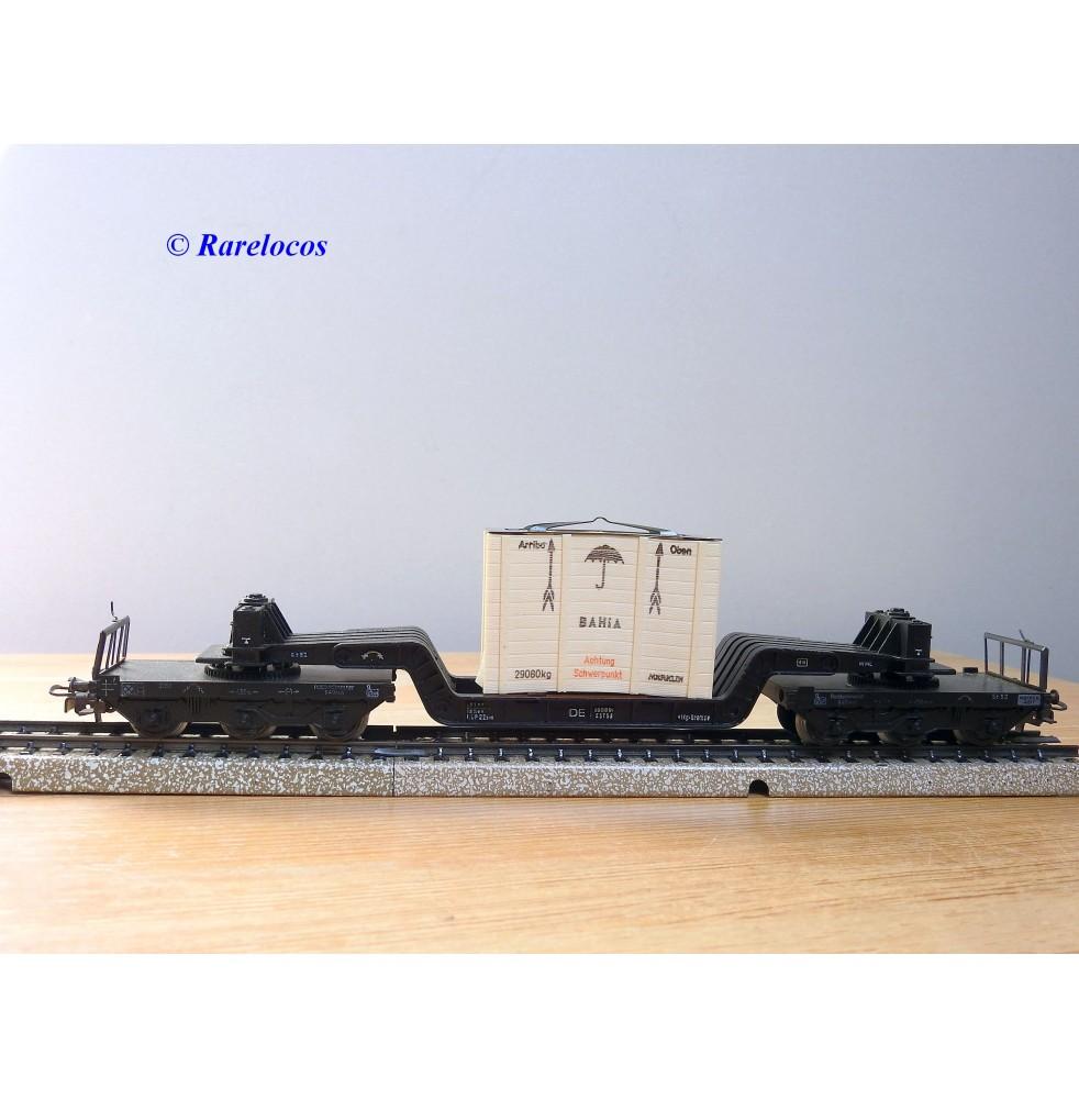 copy of Märklin métal 4617 Wagon surbaissé EVS DB BO