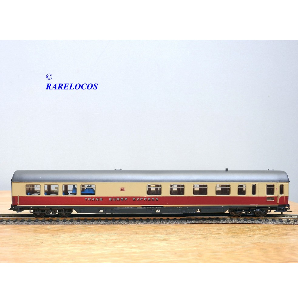 copy of RÖWA 2304 wagon plat chargé de 2 conteneurs LESAGE  DB BO