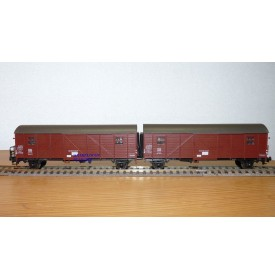 ROCO 4328,  couplage wagons couverts Gllmehs 37 DB BO