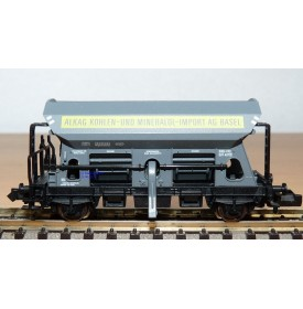 FLEISCHMANN  8511,  wagon trémie à déchargement auromatique  fonctionnel  ALKAG Ag Basel  SBB  BO  N
