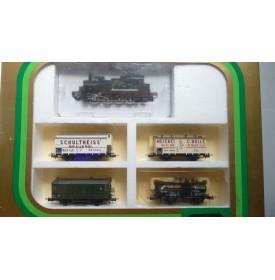 TRIX International  21213, coffret locotender T 13 ( Br 92 ) et 4 wagons KPEV  BO