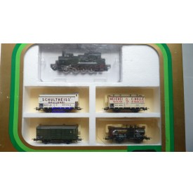 TRIX International  21213, coffret locotender T 13 ( Br 92 ) et 4 wagons KPEV  BO