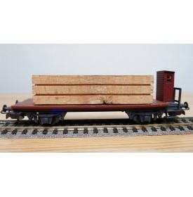 LILIPUT 20600, wagon plat à guérite chargé de  bois DB  BO