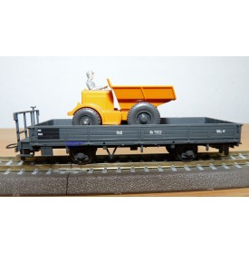 BEMO 2257 102, wagon plat type Kk N° Kk 7322 et dumper RhB  BO
