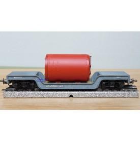 TRIX EXPRESS  489 . 8, wagon surbaissé pour charges lourdes Weltrol